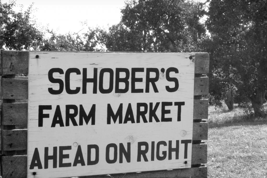 Schober Orchards - Black and White